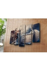 Set 5 tablouri din panza Bonanza ASR-242BNZ5215 Multicolor