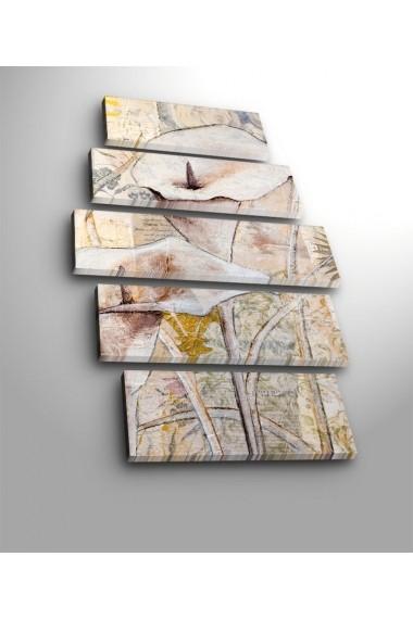 Set 5 tablouri din panza Bonanza ASR-242BNZ5218 Multicolor
