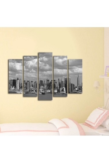 Set 5 tablouri din panza Bonanza ASR-242BNZ5219 Multicolor