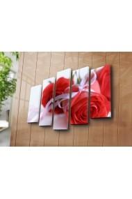 Set 5 tablouri din panza Bonanza ASR-242BNZ5225 Multicolor