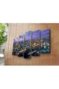 Set 5 tablouri din panza Bonanza ASR-242BNZ5227 Multicolor