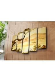 Set 5 tablouri din panza Bonanza ASR-242BNZ5230 Multicolor