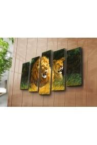 Set 5 tablouri din panza Bonanza ASR-242BNZ5232 Multicolor