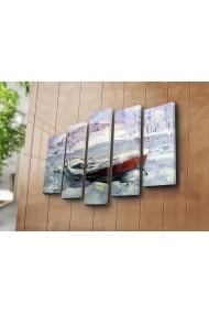 Set 5 tablouri din panza Bonanza ASR-242BNZ5233 Multicolor