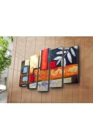 Set 5 tablouri din panza Bonanza ASR-242BNZ5234 Multicolor