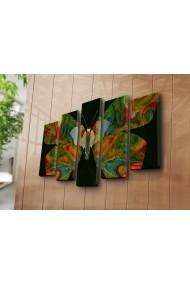 Set 5 tablouri din panza Bonanza ASR-242BNZ5240 Multicolor