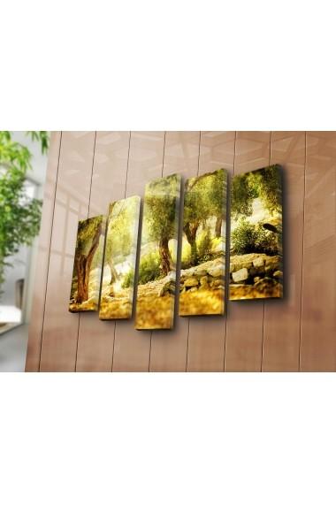 Set 5 tablouri din panza Bonanza ASR-242BNZ5241 Multicolor
