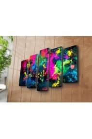 Set 5 tablouri din panza Bonanza ASR-242BNZ5245 Multicolor