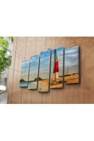 Set 5 tablouri din panza Bonanza ASR-242BNZ5250 Multicolor