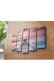 Set 5 tablouri din panza Bonanza ASR-242BNZ5252 Multicolor