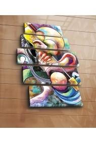 Set 5 tablouri din panza Bonanza ASR-242BNZ5260 Multicolor