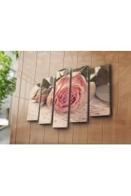 Set 5 tablouri din panza Bonanza ASR-242BNZ4217 Multicolor