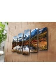 Set 5 tablouri din panza Bonanza ASR-242BNZ5273 Multicolor