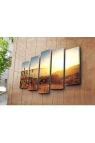 Set 5 tablouri din panza Bonanza ASR-242BNZ5276 Multicolor