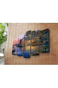 Set 5 tablouri din panza Bonanza ASR-242BNZ5277 Multicolor