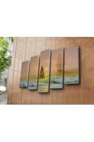 Set 5 tablouri din panza Bonanza ASR-242BNZ5279 Multicolor