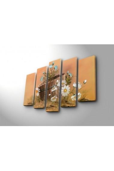 Set 5 tablouri din panza Bonanza ASR-242BNZ5281 Multicolor