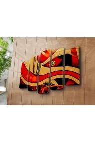 Set 5 tablouri din panza Bonanza ASR-242BNZ5283 Multicolor