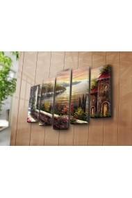 Set 5 tablouri din panza Bonanza ASR-242BNZ5290 Multicolor