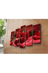 Set 5 tablouri din panza Bonanza ASR-242BNZ5294 Multicolor