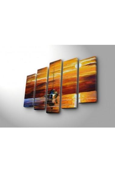 Set 5 tablouri din panza Bonanza ASR-242BNZ5297 Multicolor - els