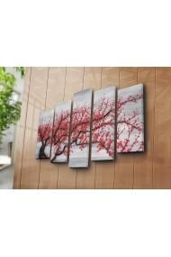 Set 5 tablouri din panza Bonanza ASR-242BNZ5301 Multicolor
