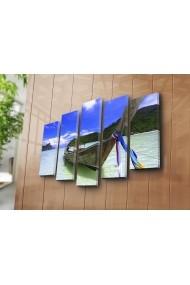 Set 5 tablouri din panza Bonanza ASR-242BNZ4202 Multicolor