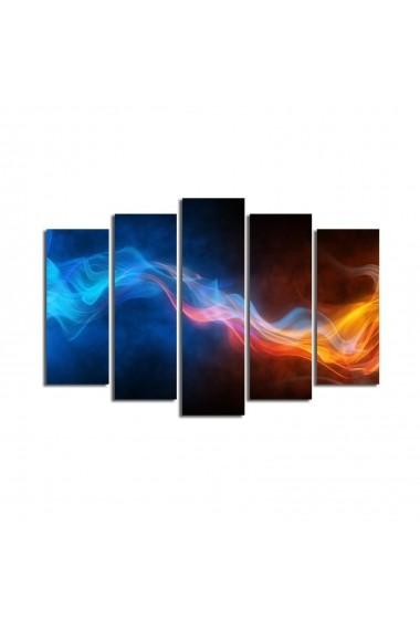 Set 5 tablouri din panza Bonanza ASR-242BNZ4220 Multicolor