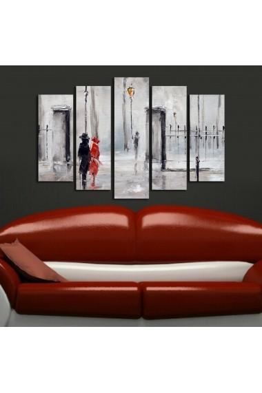 Set 5 tablouri din panza Bonanza ASR-242BNZ4223 Multicolor