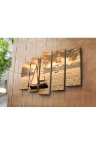 Set 5 tablouri din panza Bonanza ASR-242BNZ4224 Multicolor