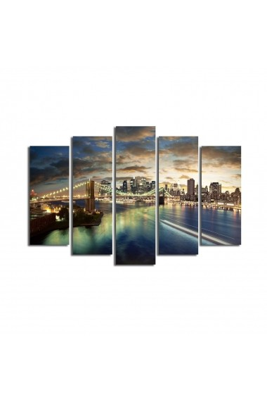 Set 5 tablouri din panza Bonanza ASR-242BNZ4225 Multicolor