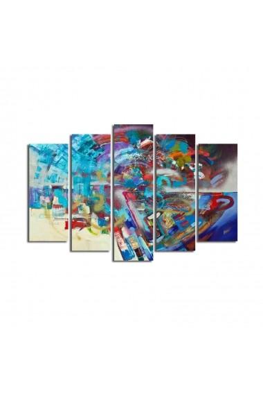 Set 5 tablouri din panza Bonanza ASR-242BNZ4229 Multicolor