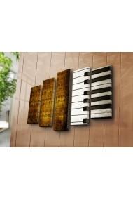 Set 5 tablouri din panza Bonanza ASR-242BNZ4233 Multicolor