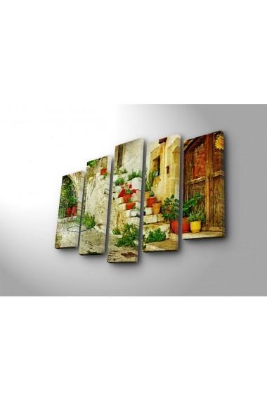 Set 5 tablouri din panza Bonanza ASR-242BNZ4241 Multicolor - els