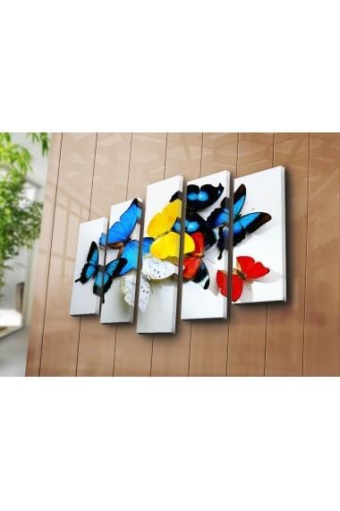 Set 5 tablouri din panza Bonanza ASR-242BNZ4243 Multicolor