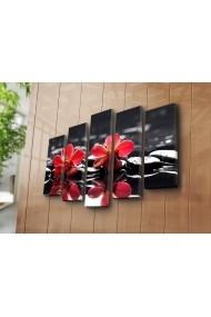Set 5 tablouri din panza Bonanza ASR-242BNZ4245 Multicolor