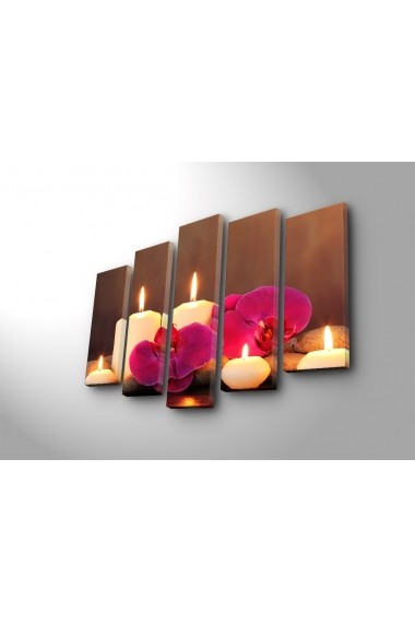 Set 5 tablouri din panza Bonanza ASR-242BNZ4247 Multicolor