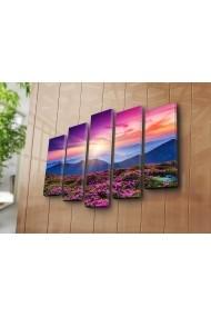 Set 5 tablouri din panza Bonanza ASR-242BNZ4251 Multicolor