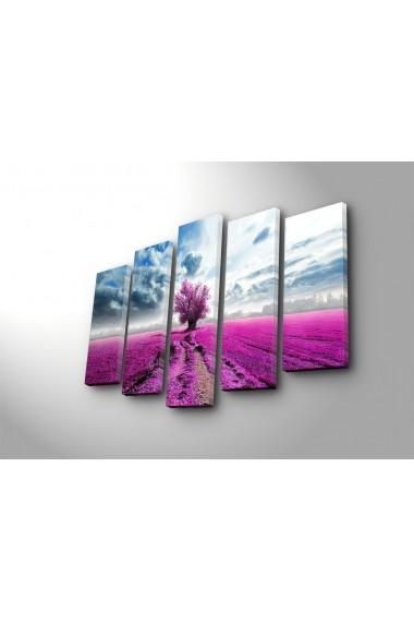 Set 5 tablouri din panza Bonanza ASR-242BNZ4253 Multicolor