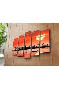 Set 5 tablouri din panza Bonanza ASR-242BNZ4254 Multicolor