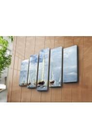 Set 5 tablouri din panza Bonanza ASR-242BNZ4256 Multicolor