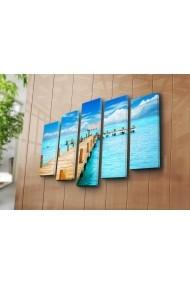 Set 5 tablouri din panza Bonanza ASR-242BNZ4257 Multicolor
