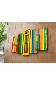 Set 5 tablouri din panza Bonanza ASR-242BNZ4262 Multicolor