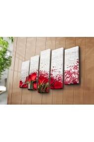 Set 5 tablouri din panza Bonanza ASR-242BNZ4263 Multicolor