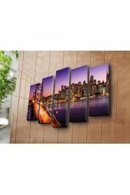 Set 5 tablouri din panza Bonanza ASR-242BNZ4264 Multicolor