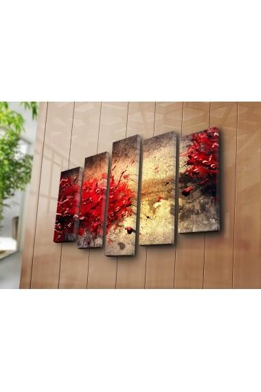 Set 5 tablouri din panza Bonanza ASR-242BNZ4265 Multicolor
