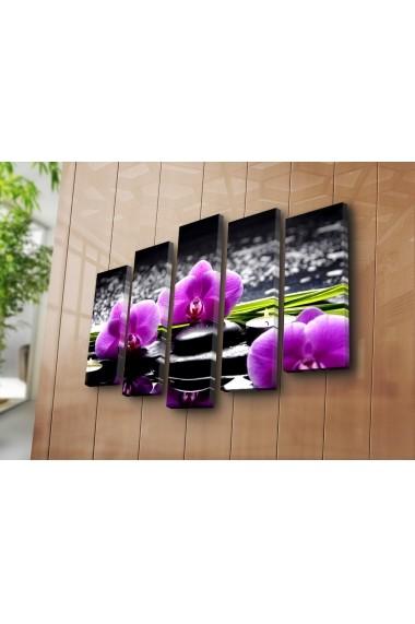 Set 5 tablouri din panza Bonanza ASR-242BNZ4267 Multicolor