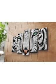 Set 5 tablouri din panza Bonanza ASR-242BNZ4268 Multicolor