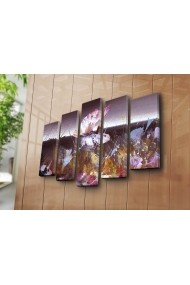 Set 5 tablouri din panza Bonanza ASR-242BNZ4270 Multicolor