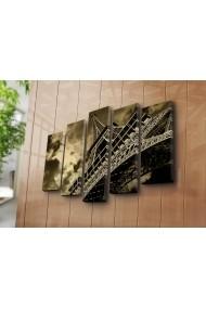 Set 5 tablouri din panza Bonanza ASR-242BNZ4277 Multicolor